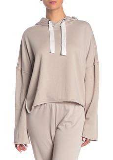 Betsey Johnson Raw Edge Cropped Hoodie