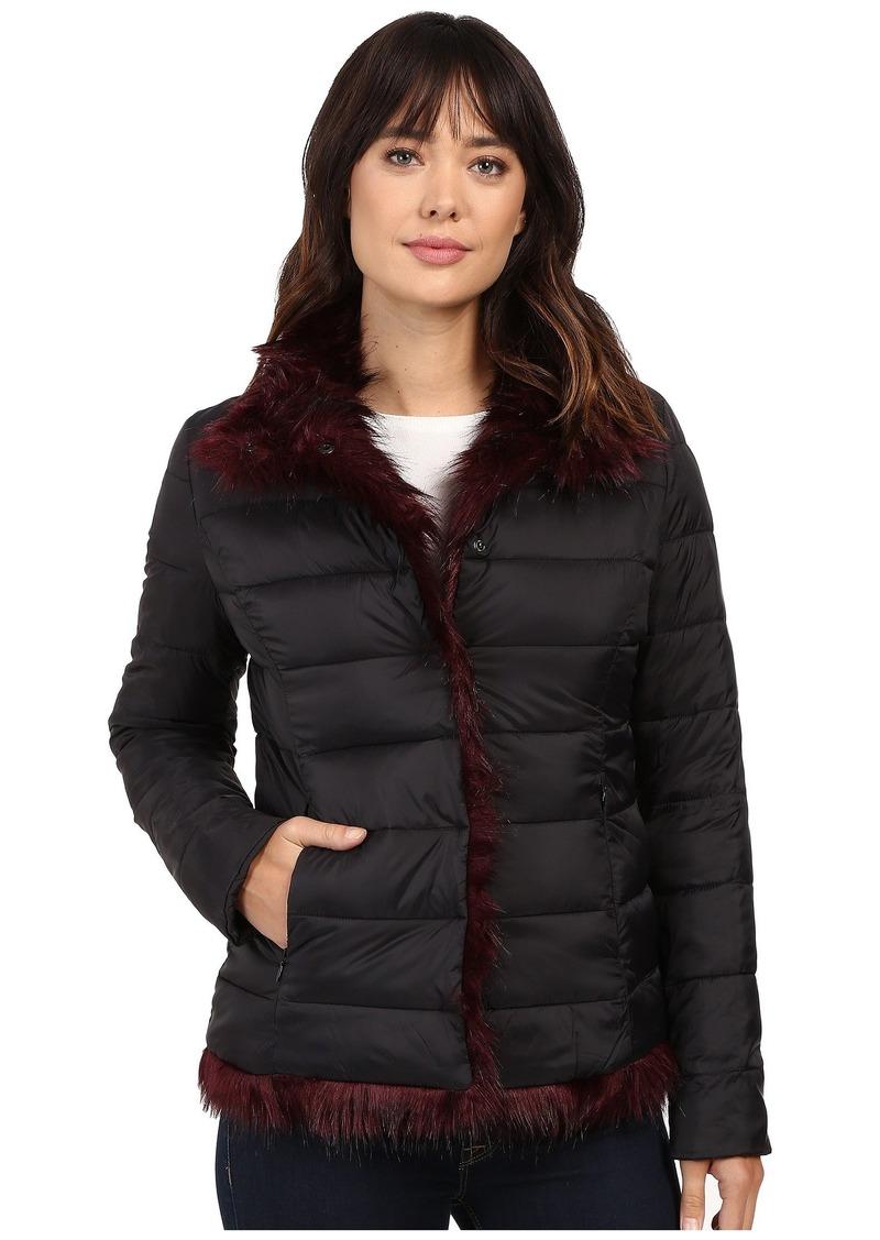 Betsey Johnson Reverse To Faux Fur Coat