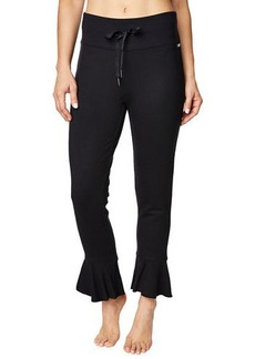 Betsey Johnson Ruffle-Hem Terry Sweatpants