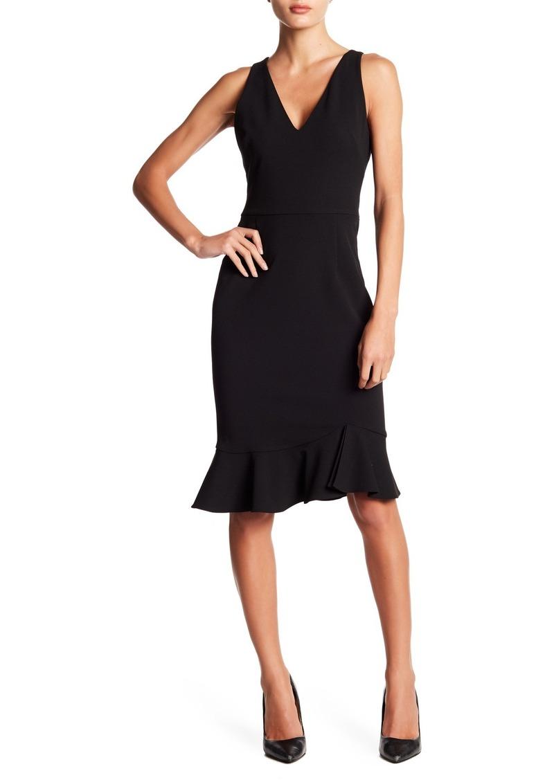 Betsey Johnson Ruffle Hem V-Neck Dress
