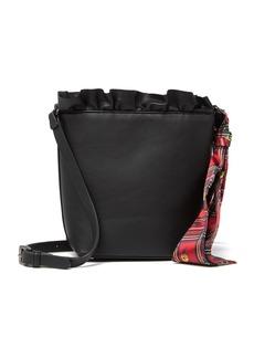 Betsey Johnson Ruffle Top Small Bucket Bag