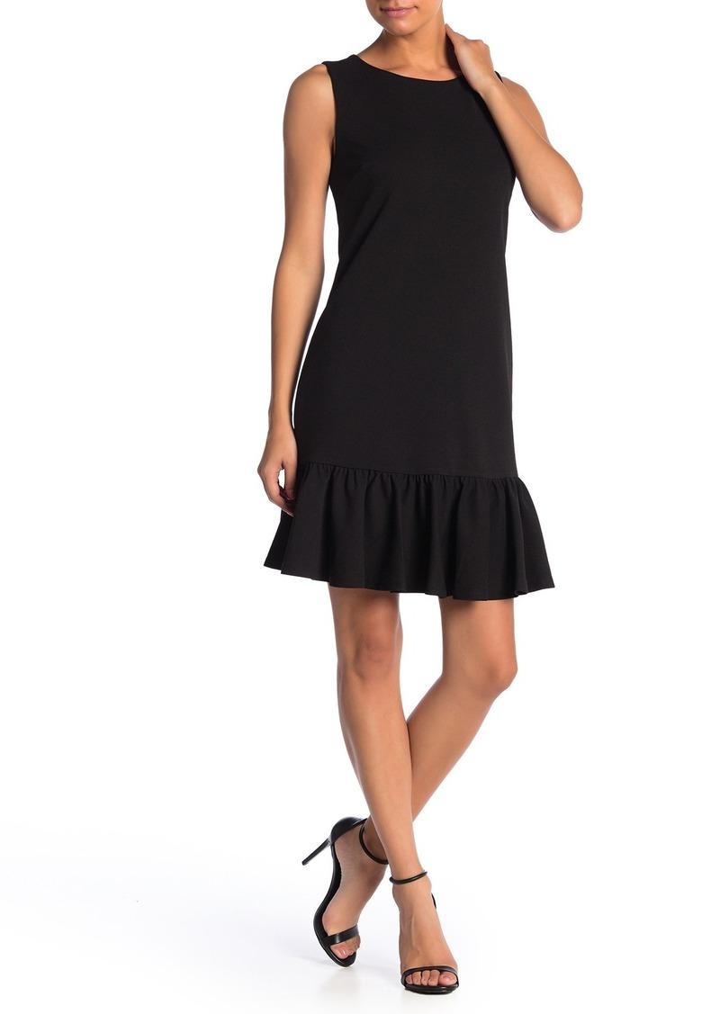 Betsey Johnson Ruffled Hem Scuba Crepe Dress
