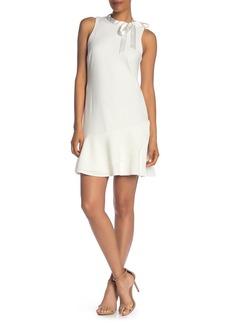 Betsey Johnson Scuba Bow Neck Mini Dress