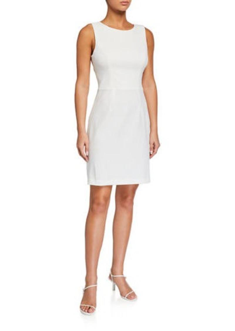 Betsey Johnson Scuba Crepe Cutout-Back Cocktail Dress