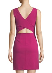 Betsey Johnson Scuba Crepe Cutout-Back Cocktail Dress