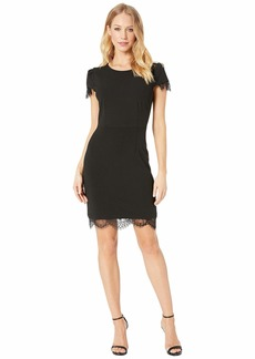 Betsey Johnson Scuba Crepe Dress w/ Lace Trim