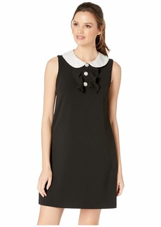 Betsey Johnson Scuba Crepe Dress w/ Peter Pan Collar