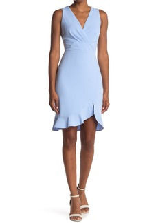 Betsey Johnson Scuba Crepe Faux Wrap Tank  Dress