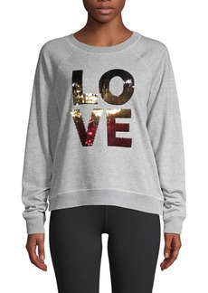 Betsey Johnson Sequin Raglan-Sleeve Sweatshirt