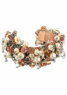 Betsey Johnson Shakey Pearl Cuff Bracelet