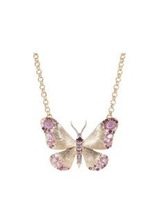 Betsey Johnson Short Butterfly Pendant Necklace