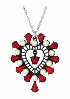 Betsey Johnson Short Heart Pendant Necklace