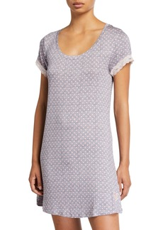 Betsey Johnson Short-Sleeve Sleepshirt