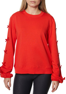 Betsey Johnson Side-Bow Cutout Sweatshirt
