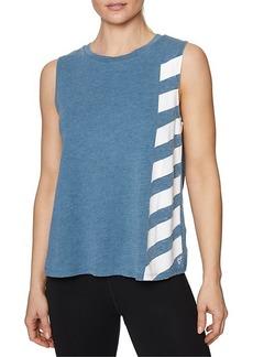 Betsey Johnson Side Stripe Muscle Tank Top