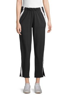 Betsey Johnson Side-Striped Sweatpants