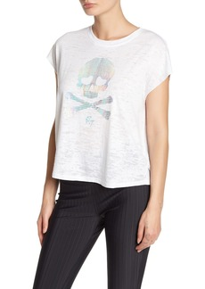 Betsey Johnson Skull Graphic Burnout T-Shirt