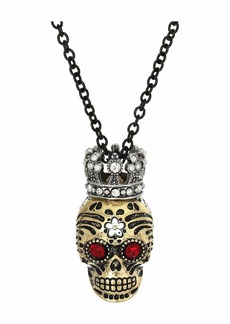 Betsey Johnson Skull Pendant Necklace
