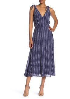Betsey Johnson Polka Dot Sleeveless Midi Dress