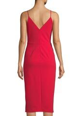 Betsey Johnson Sleeveless Faux-Wrap Cocktail Dress