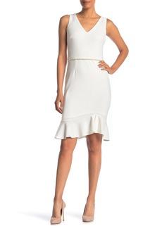 Betsey Johnson Sleeveless Imitation Pearl Scuba Dress