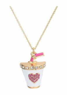 Betsey Johnson Soda Pendant Necklace