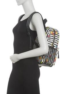 Betsey Johnson Splatter Floral Print Backpack