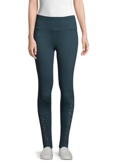 Betsey Johnson Star Cut-Out Knit Tights