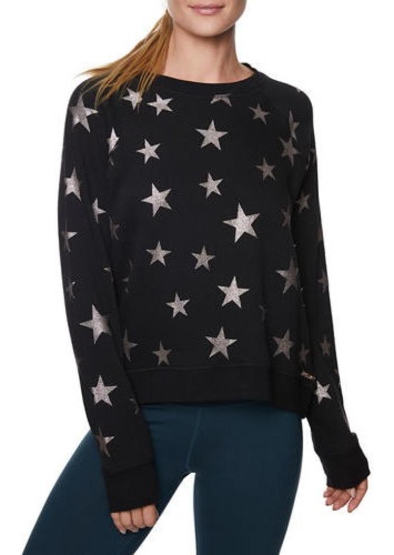 Betsey Johnson Star Glitter Print Sweatshirt