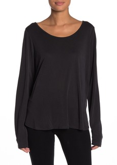 Betsey Johnson Strappy Back Long Sleeve T-Shirt