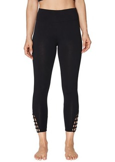 Betsey Johnson Strappy Looped Mid Rise 7/8 Leggings