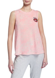 Betsey Johnson Strawberry Lip Graphic Sleeveless Tank