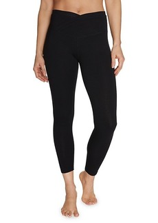 Betsey Johnson Stretch-Cotton Overlap Leggings