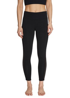 Betsey Johnson Stretch Ladder-Trim Mid-Rise Leggings
