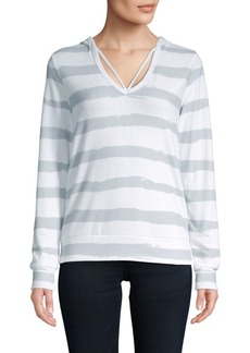 Betsey Johnson Striped Knit Hoodie