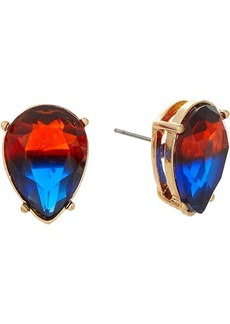 Betsey Johnson Teardrop Stud Earrings