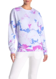 Betsey Johnson Tie Dye Crew Neck Sweatshirt