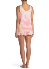 Betsey Johnson Tie Dye Shorts Pajama 2-Piece Set