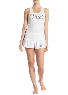 Betsey Johnson Trophy Wife Embellished Sequin Tank Top