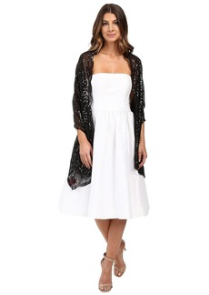 Betsey Johnson Tulle Wrap with Sequin Scallop Pattern
