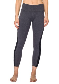 Betsey Johnson Twisted Mesh 7/8 Yoga Leggings