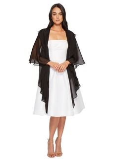 Betsey Johnson Two Tiered Ruffle Draped Evening Wrap