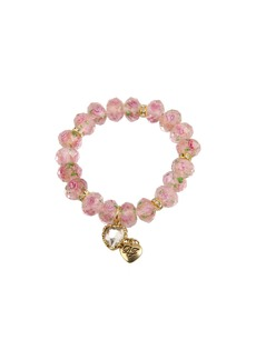 Betsey Johnson Tzarina Pink Beads Stretch Bracelet
