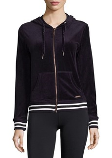 Velour Hooded Jacket