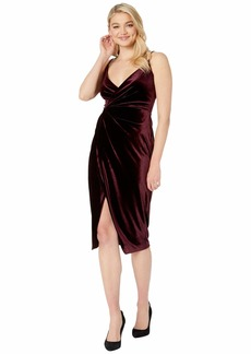 Betsey Johnson Velvet Faux Wrap Dress