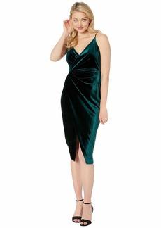 Betsey Johnson Velvet Faux Wrap Dress