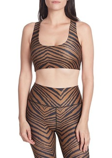 Betsey Johnson Wild-Print Sports Bra