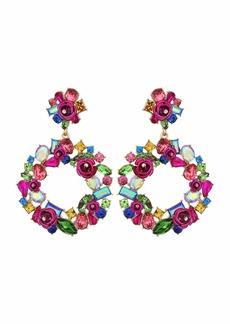 Betsey Johnson Wreath Earrings