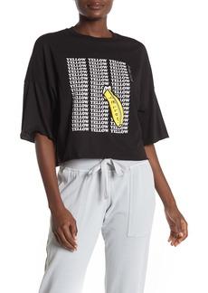 Betsey Johnson Yellow Banana Raw Edge T-shirt