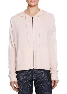 Betsey Johnson Zigzag Striped Cutoff Cotton-Blend Jacket
